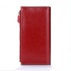 Women Real Genuine Leather Wallet Female Long Leather Clutch Purse Lady Phone Coin Bag Purse
