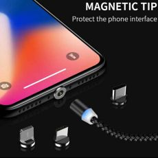 Magnetic Cable 3 IN 1 Micro USB Cable Type C For iPhone and Android