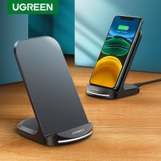 Ugreen Qi Wireless Charger Stand for iPhone Samsung Fast Wireless Charging Station Phone Charger