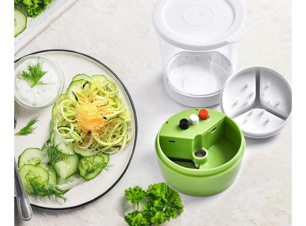 Vegetable Slicer 5 in1 Adjustable Spiral Cutter with Container Zucchini Noodle Spaghetti Maker