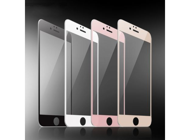 Black White Rose Gold 9H Full Cover Tempered Glass Screen Protector for iPhone 6 6s 7 8 Plus 7Plus 8Plus X XR XS Max 11 Pro Max